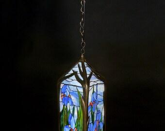 Stained Glass Lantern Lamp, Lantern Lamp, Lantern Light, Lantern Pendant, Lantern Lighting, Pendant Lamp, Stained Glass Lamp