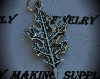 Leaf Sterling Silver Plated Charm