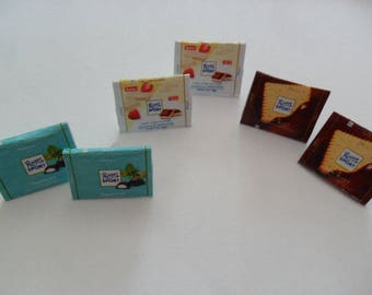 """Ritter Sport"" earrings chocolate"