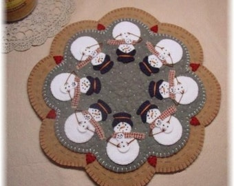 Snowmoms Penny Rug Candle Mat DIGITAL PATTERN