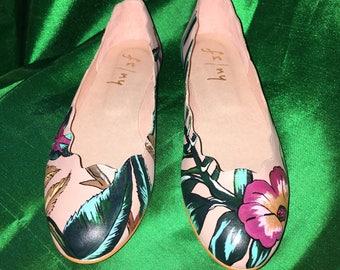 Custom Hand Painted Ballet Slippers