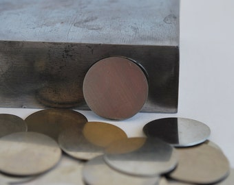 1  inch round Nickel Silver Discs- 10 pack 24g. Great for your Jewelry Stamping Needs-Stamping Blanks for Personalized Jewelry