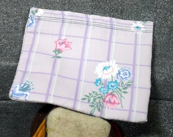 Reusable Sandwich Bag, Flower Bunch on Purple Print