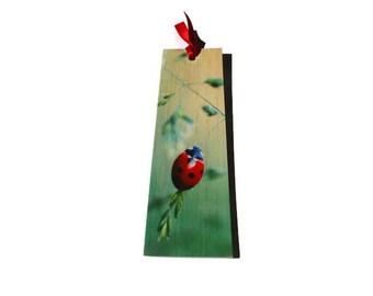 Wooden bookmark - Wood bookmark - Ladybird bookmark - Ladybug bookmark - Book lover gift - Handmade bookmark - Unique bookmark - Ladybird