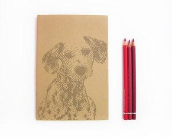 Dog Notebook. Cross stitch Dalmatian print