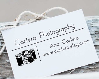 Custom  Business Card, Photography Stamp,  Photography Business Stamp, Business Stamp, Business Card Stamp, Branding Stamp, 10109