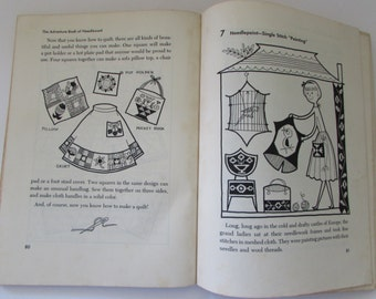 Vintage (1950s) craft book, 'The Adventure Book of Needlework ( a step by step picture guide)',  A Capitol Young Adventure Book