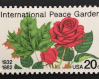 Rose mint stamp - Peace Garden