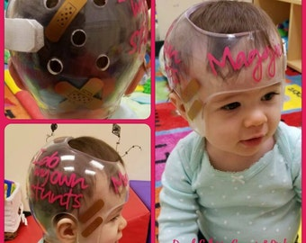 I do my own stunts - Bandages - Band-Aids Inspired - Personalized Cranial Band Decals - Baby Helmet Stickers