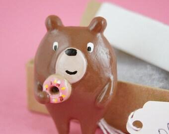Donut Bear Brooch (007)