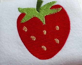 Embroidery strawberry instant download load design, summer fruit, summer strawberry, sweet strawberry
