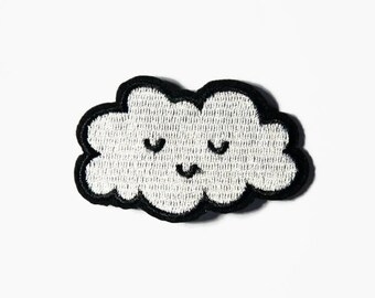 Small Cute Patches - Tiny Iron On Patch Cloud Patches Little Patches Anxiety Patch Inspirational Small Embroidery Patch Small Kawaii Patches