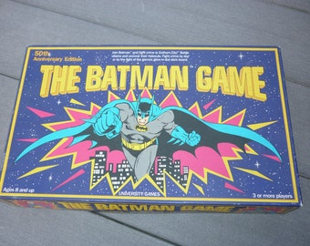 The Batman Game vintage board game 1989 50th anniversary university games