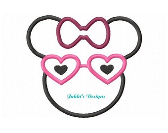 Instant Download Rock Star Mouse Ears Embroidery Machine Applique Design-528