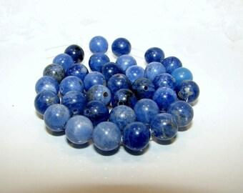 Sodalite shape ball 08 mm in diameter. Pearl semi precious sold individually. (3535287)