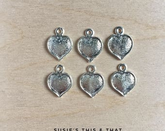 Milagros: Hearts, Set of 6. Made in Mexico.