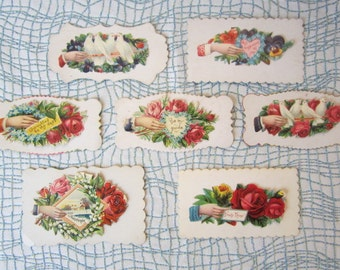 Seven Vintage Victorian Calling Cards