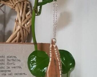 FEATHER paper necklace/Collana di carta a PIUMA azzurra/recycled paper necklace/Collana in carta riciclata/PIUMA leggera girocollo