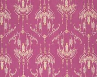Tina Givens Feather Flock 'Bird Castle' in Fuscia Cotton Fabric
