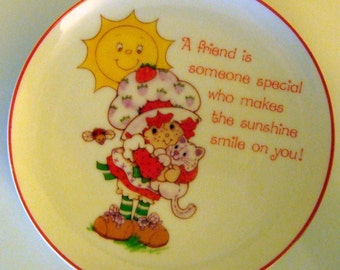 Vintage Strawberry Shortcake ceramic plate