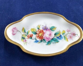 Beautiful Limoges Pin Tray with Floral Design