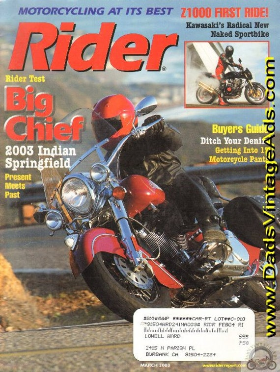 2003 March Rider Motorcycle Magazine Back-Issue #0303rdr