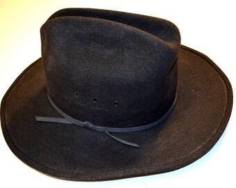 Black Wool Felt Dorfman Pacific Men's Fedora