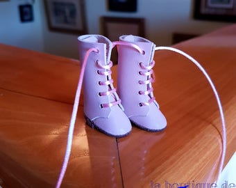 For Sindy doll, pink leather boots-rose boots for Sindy or Core (Tucha, Lisa Jean)