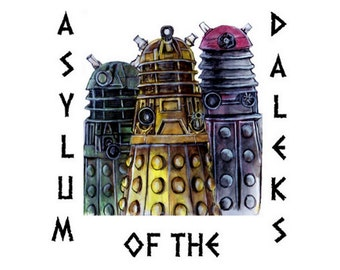 Asylum of the Daleks Doctor Who Watercolor Painting 4x6, 5x7, or 8x10 Art Print