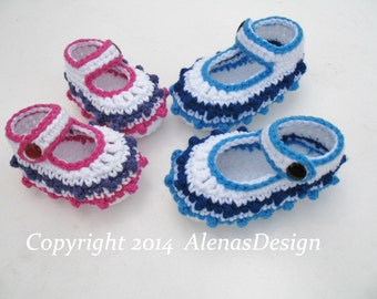 Crochet Pattern 099 - Crochet Baby Shoes - Victoria Newborn Baby Boy Baby Girl White Shoes Mary Jane Shoes Slippers Booties Baby Shower Gift