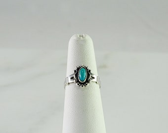 Sterling Turquoise Stack Ring Size 5.25