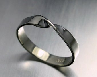 Silver Ring, Mobius Ring, Infinity Ring, Sterling Silver Ring