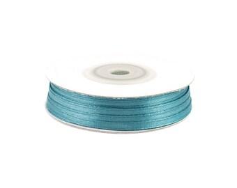 3mm - reel 50 m 347 petrol blue satin ribbon