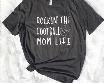 Rocking that football momlife, football mom, football mom, sports mom, football coach, gift for mom, sports mom, hockey mom, wrestling mom,