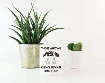 Thank You Gifts for Teachers - Awesome Science Teacher Coffee Mug