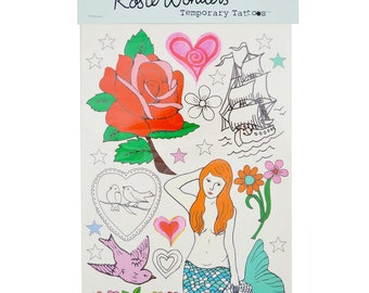 Mermaid Temporary Tattoos
