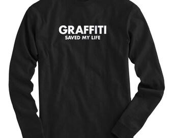LS Graffiti opgeslagen mijn leven Tee - lange mouwen T-shirt - mannen en Kids - S M L XL 2 x 3 x 4 x - Graffiti Shirt, Street Art - 4 kleuren