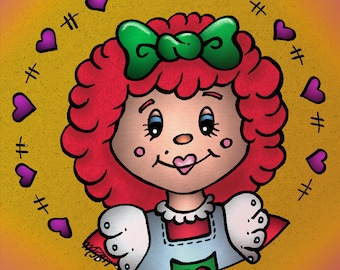 Digital stamp colouring image - Rag Anne. jpeg / png
