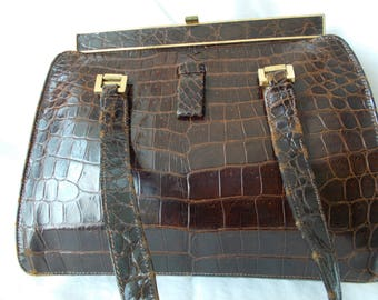Vintage Lucille De Paris handbag. Genuine alligator.