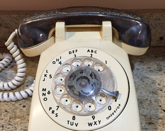 Retro Vintage ITT Rotary Phone with Silverplated Gorham Handset Cover