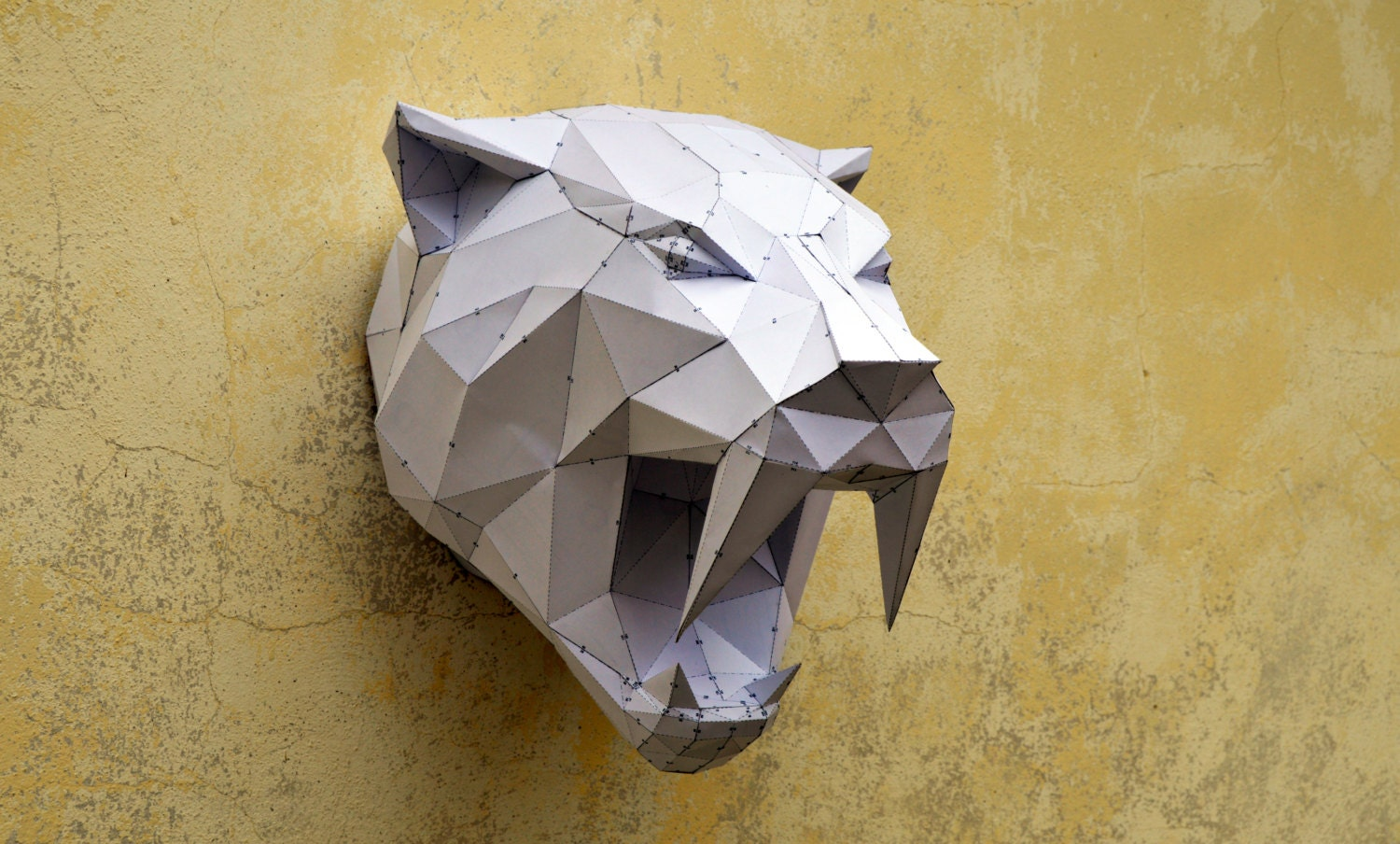 Make your own sabertooh tiger papercraft animal paper zoom jeuxipadfo Image collections