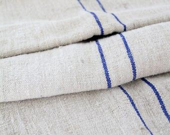 antique French grain sack, homespun feed sack