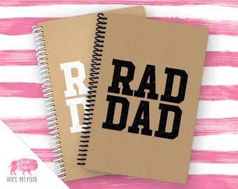 Spiral Notebook | Spiral Journal Planner | Journal | 100% Recycled | Rad Dad | BB051
