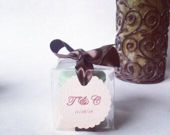 30 French Macaron Favor Boxes