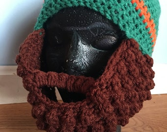 Crocheted Men's Bearded Hat