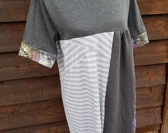 T-shirt dress XXL  One of a kind, Gray and Purple