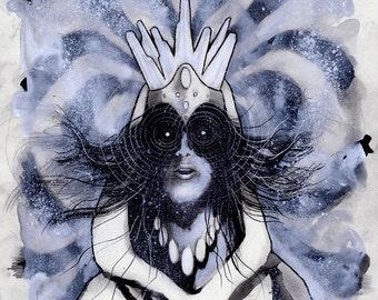 Seven (Original Mixed Media Illustration)