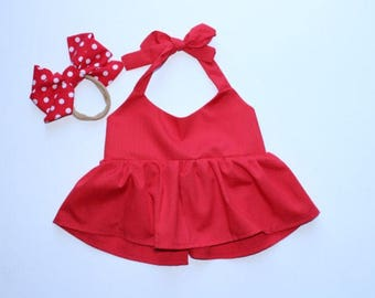 On Sale! Red Crop Top