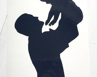 DIY Father and Child Decal cut from Vinyl