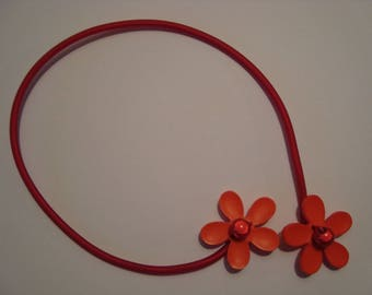 Flower Orange and Red necklace